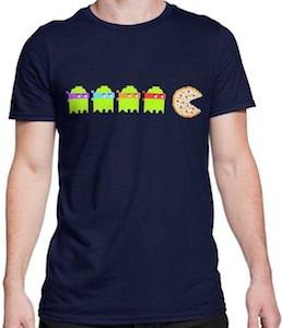 Pizza Pac Man Meets TMNT T-Shirt