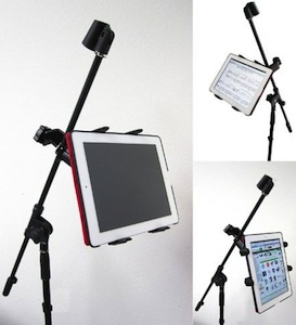 Tablet Holder For Microphone Stand