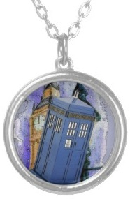Doctor Who Tardis In London Necklace