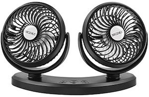 USB Dual Car Fan