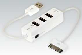 usb hub with iPhone charger
