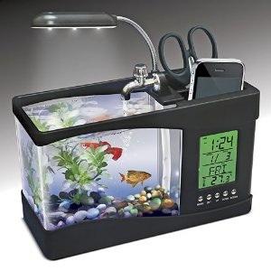 USB desk organiser aquarium