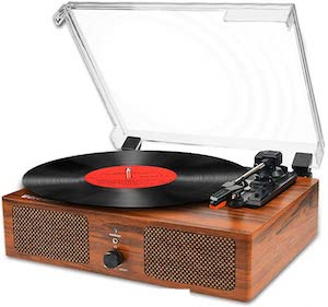 Vinyl Record Player With Speaker And USB