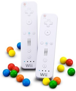 Nintendo Wii mote with gums inside
