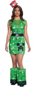 Women's Minecraft Creeper Costume