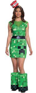 Women's Minecraft Creeper Costume