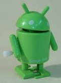 Green Android Robot that you can wind up to make it move