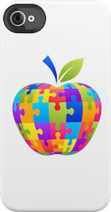 Apple Jigsaw Puzzle iPhone And iPod Touch Case