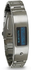 A bluetooth bracelet that tells you who is calling and makes you never loose your phone again