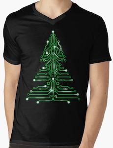 Circuit Board Christmas Tree T-Shirt