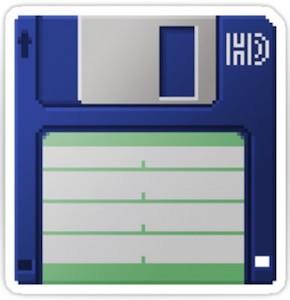 3.5 Inch Floppy Disk Sticker
