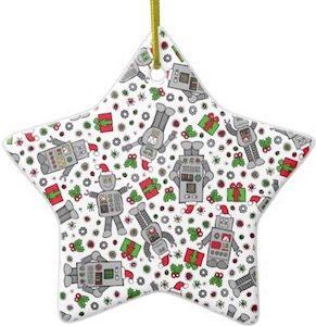 Star Shaped Robot Christmas Tree Ornament