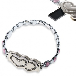 Hearts Bracelet With USB Flash Drive