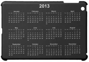 Black Calendar iPad mini Case