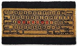Doormat that looks like a keyboard