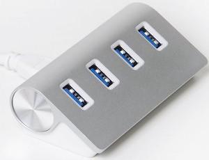 4 Port Aluminium Mac Style USB 3.0 Hub