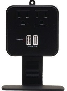 surge protector with sockets and shelve