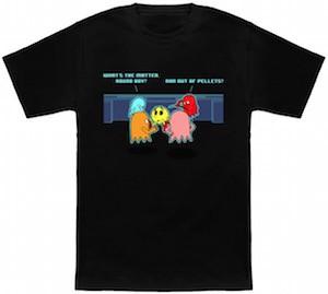 Pac man being bullied t-shirt