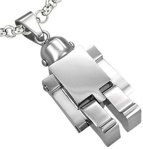 Stainless Steel Robot Necklace