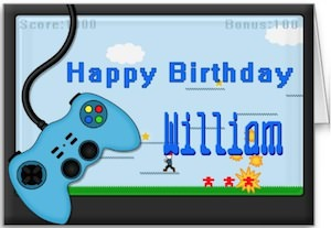 Video Game Birthday Card